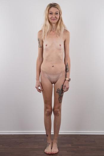 Skinny Blonde College Girl