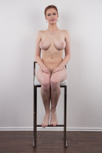 Preview Czech Casting - Just amazing natural boobs size 8 and only 18 years old!!! This is what you can expect from today's story from the white couch. You will never forget this Czech amateur, there is no way. The gorgeous redhead Nada is a heavenly gift and her gigantic tits are a miracle...