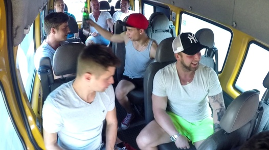 Brutal gangbang with a horny MILF | Czech Bang Bus 1