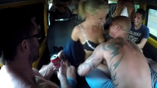Nasty gangbang with a horny MILF | Czech Bang Bus 1