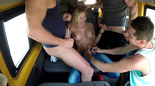 Brutal gangbang with a busty MILF | Czech Bang Bus 3