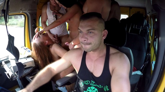 Horny twins and kinky 18 y/o   Czech Bang Bus 5 part 2
