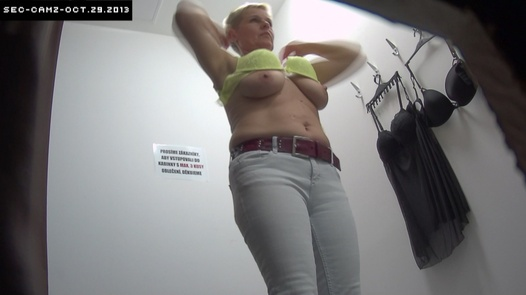 Mature blonde with short hair