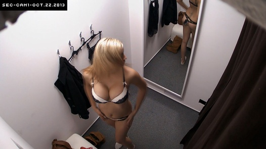Busty blonde in red panties | Czech Cabins 61