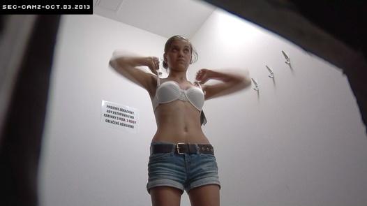 Slim brunette in jean shorts | Czech Cabins 64