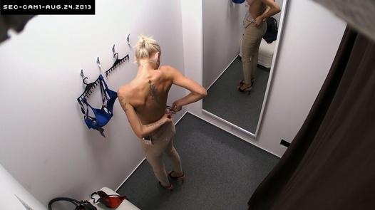 Shy blonde needs a new bra | Czech Cabins 65