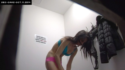 Slim brunette in pink panties | Czech Cabins 134