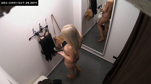 Blonde with natural rack   Czech Cabins 146