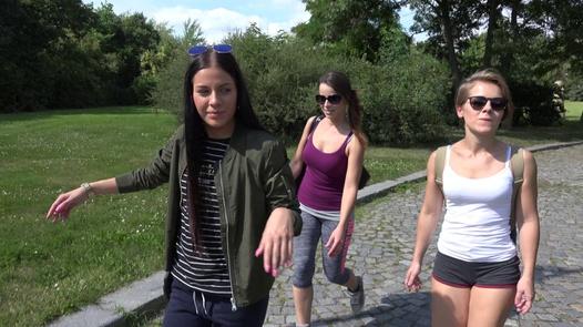 Lesbians fuck in public   Czech Couples 28