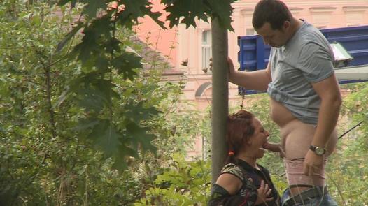 Tereza fucks a guy in a park   Czech Experiment 1