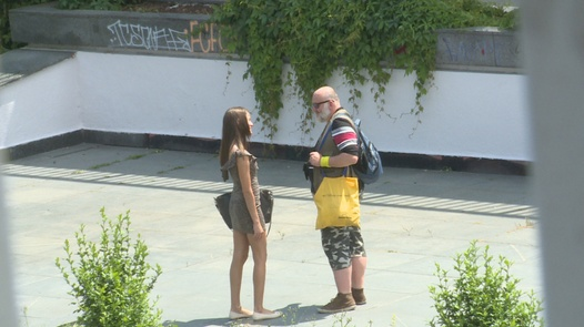 Beauties eat each other out in public | Czech Experiment 9