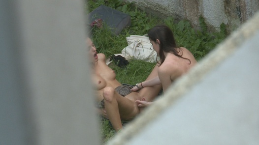 Beauties eat each other out in public   Czech Experiment 9
