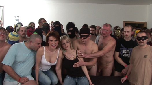 120 cocks for 2 busty girls | Czech Gang Bang 4
