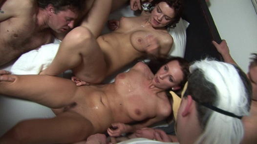 Two beauties drowning in cum | Czech Gang Bang 6