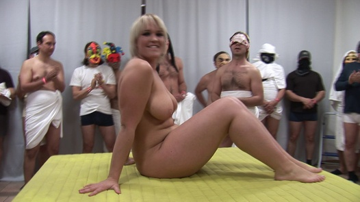 100 guys enjoys a mother and 18 y/o daughter | Czech Gang Bang 8