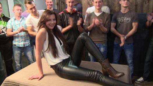 Gangbang with the most beautiful amateur (Part 1) | Czech Gang Bang 18 part 1