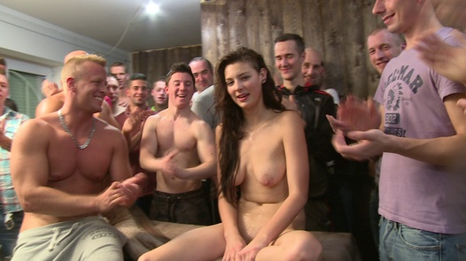 Gangbang with the most beautiful amateur (Part 2) | Czech Gang Bang 18 part 2