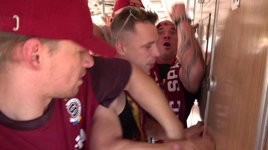 Fußball-Gangbang in einem Zug | Czech Gang Bang 21 Teil 1