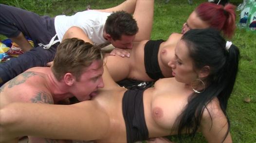 Mega group sex in the garden   Czech Garden Party 1 part 1