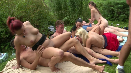 Two cocks, one pussy | Czech Garden Party 1 part 5