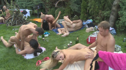 Super group fuck by the pool | Czech Garden Party 2 part 4
