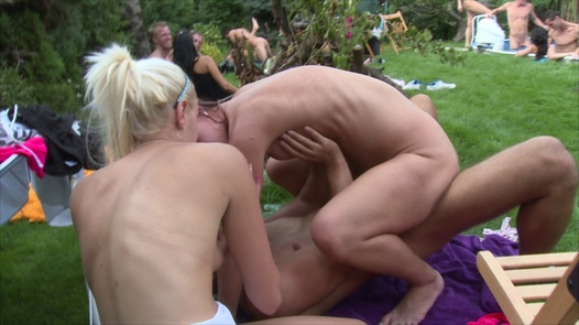 Young chicks and enormous cock | Czech Garden Party 2 part 5