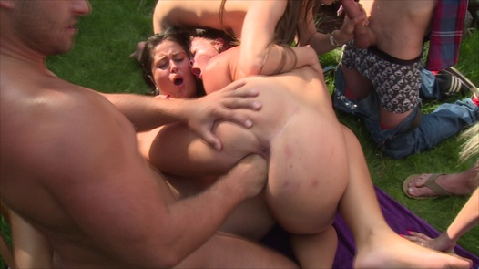 Fisting and group fuck in the pool   Czech Garden Party 2 part 6