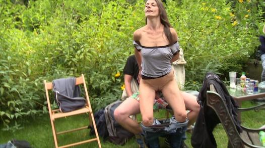 Beautiful 18 y/o fucks everybody | Czech Garden Party 3 part 4