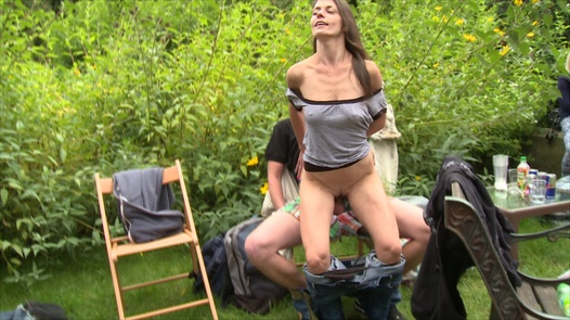 Beautiful 18 y/o fucks everybody | Czech Garden Party 3 part 4