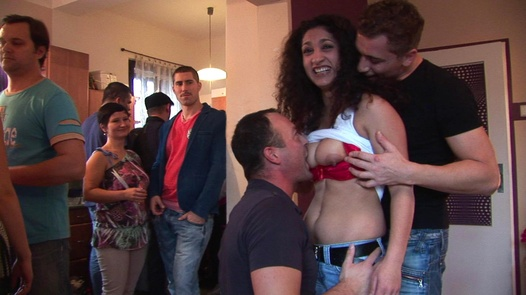 Home orgy with a pregnant girl | Czech Home Orgy 3 part 1