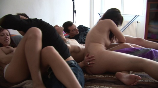Beautiful blonde fucks everybody | Czech Home Orgy 6 part 2