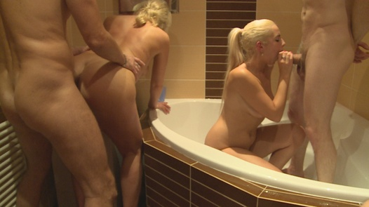 Synchronized squirting | Czech Home Orgy 9 part 4