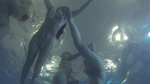 Lesbian underwater orgy   Czech Lesbians 5 part 5