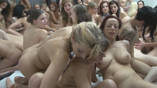The biggest lesbian group fuck ever | Czech Lesbians 5 part 8