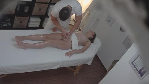 Brunette gets the massage of her dreams
