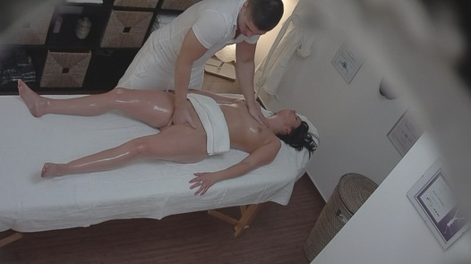 Brunette fucks the masseuse 2