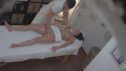Brunette fucks the masseuse 2