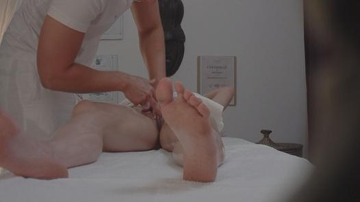 Redhead fucks the masseus   Czech Massage 10