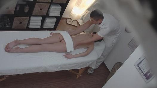 Young brunette fucks the massseuse | Czech Massage 16