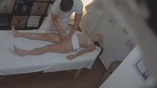 Blonde fucks the masseuse