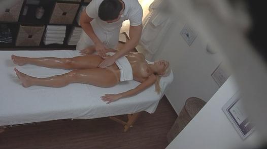 Blonde model on the massage | Czech Massage 30