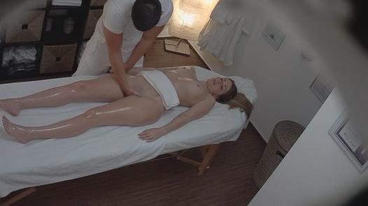 Blonde fucks the masseuse 3