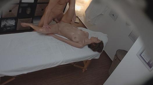 Brunette gets a happy ending massage 3