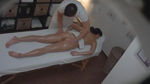 Brunette gets massaged 2