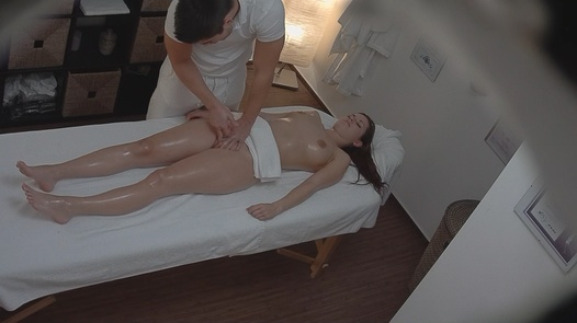 Young brunette came for a massage