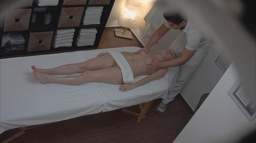 Young blonde fingered during the massage | Czech Massage 133