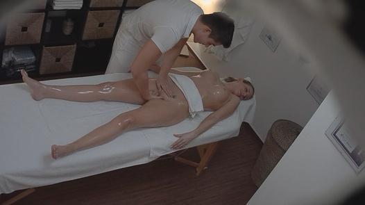 MILF gets fingered on the massage
