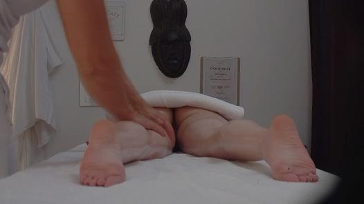 Longhaired brunette fucks the masseuse   Czech Massage 168