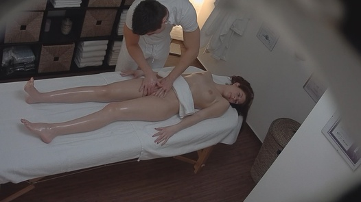 Young brunette came for a massage 2