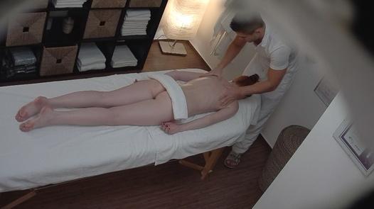 Redhead model fucks the masseuse 2 | Czech Massage 200
